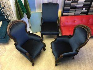 Antique armchair restoration